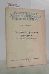Kosthorst, Erich  Kosthorst, Erich Die  deutsche Opposition gegen Hitler zwischen Polen- und Frankreichfeldzug