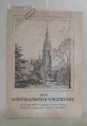 Konfirmanden -Verzeichnis 1970 der Kirchengemeinden Blankenese, Iserbrook, Lurup, Nienstedten, Osdorf, Rissen, Schenefeld und Sülldorf