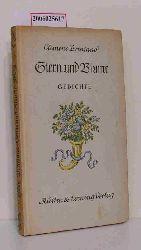Clemens Brentano  Clemens Brentano Stern und Blume - Gedichte I
