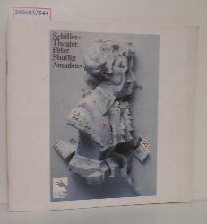 """""""Schiller-Theater Berlin: Programmheft Peter Shaffer: """"""""Amadeus"""""""""""""""