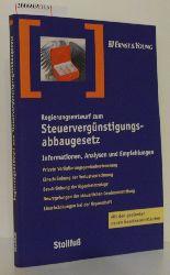 Ekkehard Gross / Dr. Bruno Hauber   Ekkehard Gross / Dr. Bruno Hauber  Regierungsentwurf zum Steuervergünstigungsabbaugesetz