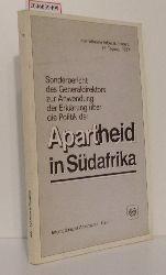 Sonderbericht des Generaldirektors zur Anwendung der Erklärung über die Politik der Apartheid in Südafrika