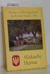 Kulturbund der DDR  Kulturbund der DDR Märkische Heimat, Beiträge zur Heimatgeschichte des Bezirkes Potsdam