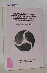 Institut für Didaktik der Mathematik der Universität Bielefeld  Institut für Didaktik der Mathematik der Universität Bielefeld Einführende Bemerkungen zum Problem der Anwendung psychologischen Wissens