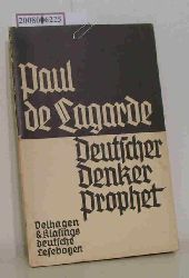 Lagarde, Paul deWinter, Paul  Lagarde, Paul deWinter, Paul Paul de Lagarde,  deutsche Lesebogen Nr. 191