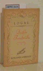Logau, Friedrich von  Logau, Friedrich von Deutsche Reimsprüche