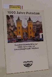 Geschenkideenkatalog zur 1000-Jahr-Feier der Landeshauptstadt Potsdam