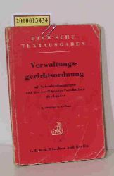 Verwaltungsgerichtsordnung mit Nebenbestimmungen und den Ausführungsvorschriften der Länder.
