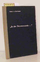 Hertha von Zahn-Stranik:  Hertha von Zahn-Stranik: Wenn die Dämmerung den Raum erfüllt ...