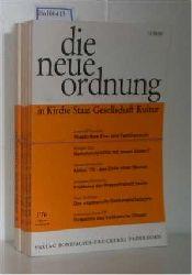 Hrsg: Albertus-Magnus-Akademie zu Walberberg bei Bonn  Hrsg: Albertus-Magnus-Akademie zu Walberberg bei Bonn DIE NEUE ORDNUNG in Kirche, Staat, Gesellschaft, Kultur. - kompletter Jahrgang 1976 (Jahrgang 30)