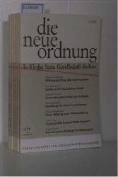 Hrsg: Albertus-Magnus-Akademie zu Walberberg bei Bonn  Hrsg: Albertus-Magnus-Akademie zu Walberberg bei Bonn DIE NEUE ORDNUNG in Kirche, Staat, Gesellschaft, Kultur. - kompletter Jahrgang 1978 (Jahrgang 32)