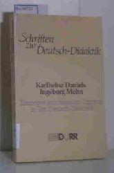 """""""Daniels, Karlheinz; Mehn, Ingeborg; Weisgerber, Bernhard (Hg.)""""  """"Daniels, Karlheinz; Mehn, Ingeborg; Weisgerber, Bernhard (Hg.)"""" Schriften zur Deutsch-Didaktik: Konzepte emotionellen Lernens in der Deutsch-Didaktik"""
