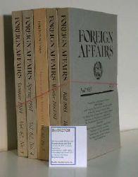 Council on Foreign Affairs  Council on Foreign Affairs Volume 62: 1,2,3,4,5 (kompletter Jahrgang, Preis für alle 5 Hefte zusammen)