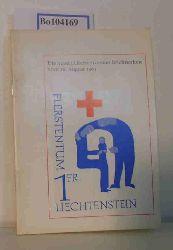 """""""Büchel, Franz (Redaktion); Diggelmann, Dr. Walter; Wohlwend, Walter B. (Mitarbeiter)""""  """"Büchel, Franz (Redaktion); Diggelmann, Dr. Walter; Wohlwend, Walter B. (Mitarbeiter)"""" Im Zeichen der Menschlichkeit. Die neuen Liechtensteiner Briefmarken vom 26. August 1963"""