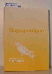 """""""Schreibwerkstatt Kolibri; Dr. Sixel (Kontakt)""""  """"Schreibwerkstatt Kolibri; Dr. Sixel (Kontakt)"""" Begegnungen Band 2"""