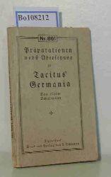 """Tacitus  Tacitus """"Präparationen nebst Übersetzung zu Tacitus"""""""""""""""" Germania von einem Schulmann (Nr. 861)"""""""