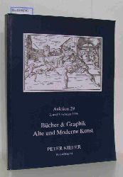 Peter Kiefer  Peter Kiefer Auktion 29 / 2. und 3. Februar 1996 Bücher & Graphik. Alte und moderne Kunst.