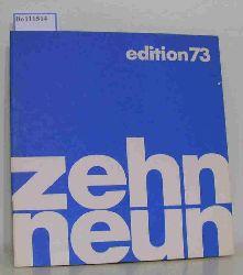zehn neun Genossenschaftlicher Kunstvertrieb / Produzentengalerie  zehn neun Genossenschaftlicher Kunstvertrieb / Produzentengalerie zehn neun edition 73. zehn neun gehört den Künstlern.
