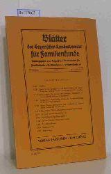 Bayerischen Landesverein für Familienkunde e.V.  Bayerischen Landesverein für Familienkunde e.V. Blätter des Bayerischen Landesvereins für Familienkunde 37. Jahrgang 1974 Band XII, Nr. 7/8