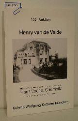 Ketterer, Wolfgang  Ketterer, Wolfgang 153. Auktion Henry van de Velde