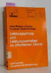 Hoefert, Hans-Wolfgang/ Reichard, Christoph (Hg.)  Hoefert, Hans-Wolfgang/ Reichard, Christoph (Hg.) Leistungsprinzip und Leistungsverhalten im öffentlichen Dienst. (=Schriften des Deutschen Instituts für Urbanistik, Band 64).