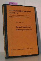 Platz, Holger  Platz, Holger Ökonomische Perspektiven einer Überbrückung des Fehmarn-Belt. (=Verkehrswissenschaftliche Studien Bd. 10)