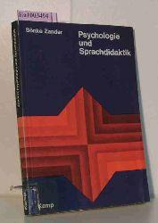 Zander, Sönke  Zander, Sönke Psychologie und Sprachdidaktik. Sechs Studien.