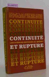 """Lévesque, Georges-Henri  Lévesque, Georges-Henri """"Continuité et rupture ; Les sciences sociales au Québec. Vol. 1  Vol. 2."""""""