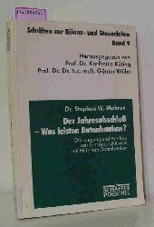 Mohren, Stephan  Mohren, Stephan Der Jahresabschluß - Was leisten Datenbanken? Offenlegung und Analyse von Jahresabschlüssen mit Hilfe von Datenbanken. (=Schriften zur Bilanz- und Steuerlehre, Bd 9).