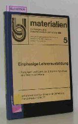 """Zentrum für pädagogische Berufspraxis (Hrsg.) / Ammann, Wiebke u.a. (Mitarb.)  Zentrum für pädagogische Berufspraxis (Hrsg.) / Ammann, Wiebke u.a. (Mitarb.) """"Einphasige Lehrerausbildung. Planungen und Daten zur 2. Erprobungsphase des Reformvorhabens. (Information aus der Universität Oldenburg, Wintersemester 1976/77). (= Materialien zwischen Schule und Universität; Bd. 5)."""""""