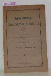 Baumgarten, Otto  Baumgarten, Otto Gustav Frenssens Glaubensbekenntnis. Vortrag in der Universitätsaula zu Kiel gehalten am 1. Februar 1906.