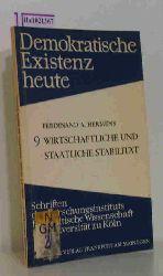 """Hermens, Ferdinand A.  Hermens, Ferdinand A. """"Wirtschaftliche und staatliche Stabilität. (=Demokratische Existenz heute; Heft 9)."""""""