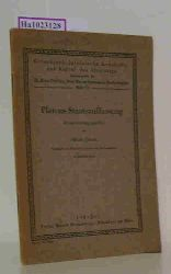 """Platon  Platon """"Platons Staatsauffassung. Zusammengestellt von Alfons Tewes. (=Griechisch-lateinische Lesehefte zur Kultur des Altertums; H. 17)."""""""