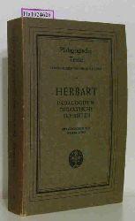 Herbart, Johann Friedrich  Herbart, Johann Friedrich Pädagogisch-didaktische Schriften. (= Pädagogische Schrifen, Bd.3).