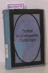Herbart, Johann Friedrich  Herbart, Johann Friedrich Umriß pädagogischer Vorlesungen.