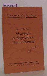 """Ostendorf, Friedrich (Hg.)  Ostendorf, Friedrich (Hg.) """"Psychologie du Rapprochement Franco-Allemand par Henri Lichtenberger. (=Neusprachliche Lesebogen; Nr. 233)."""""""