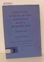 Richardson, Irvine  Richardson, Irvine Linguistic Survey of the Northern Bantu Borderland. Volume Two.