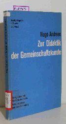 Andreae, Hugo  Andreae, Hugo Zur Didaktik der Gemeinschaftskunde.