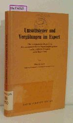 Krämer, Max  Krämer, Max Umsatzsteuer und Vergütungen im Export. Eine systematische Darstellung der umsatzsteuerlichen Exportbegünstigungen durch praktische Beispiele nebst Beurteilung.