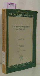 Disch, Friedrich  Disch, Friedrich Studien zur Kulturgeographie des Dinkelberges.