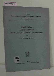 Krasensky, Hans  Krasensky, Hans Zwölf Jahre Österreichische Bankwissenschaftliche Gesellschaft.