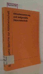 """Forschungs- u. Entwicklungsinst. für Industrie- u. Siedlungswasserwirtschaft sowie Abfallwirtschaft e.V. in Stuttgart (FEI) (Hrsg).  Forschungs- u. Entwicklungsinst. für Industrie- u. Siedlungswasserwirtschaft sowie Abfallwirtschaft e.V. in Stuttgart (FEI) (Hrsg). """"Altlastensanierung und zeitgemäße Deponietechnik. Vertieferseminar. (=Stuttgarter Berichte zur Abfallwirtschaft; 22)."""""""