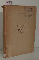 Soil Survey of the Songhor Area Kenya.
