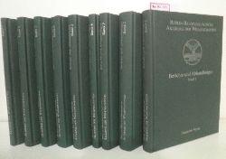 Berlin-Brandenburgische Akademie der Wissenschaften (vormals Preußische Akademie der Wissenschaften). Berichte und Abhandlungen. Band 1-9.