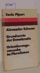 Schwan, Alexander  Schwan, Alexander Grundwerte der Demokratie