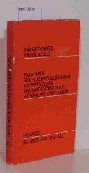 """""""Ralf Dahrendorf; Becker, Hellmut""""  """"Ralf Dahrendorf; Becker, Hellmut"""" Neue Wege zur Hochschulreform Band 20"""