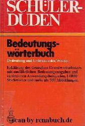 Schülerduden: Bedeutungswörterbuch