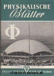 Physikalische Blätter, Ausgabe 9/1965