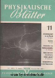 Physikalische Blätter, Ausgabe 11/1961