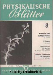 Physikalische Blätter, Ausgabe 8/1961
